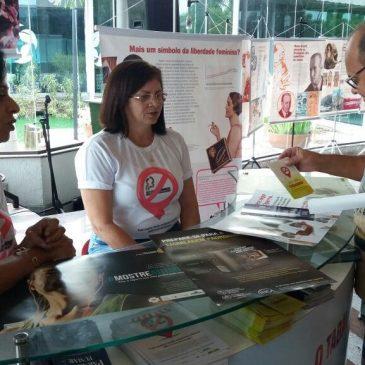 Ação da Secretaria de Estado da Saúde da alerta para os riscos do cigarro